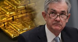 gold stocks powell comments