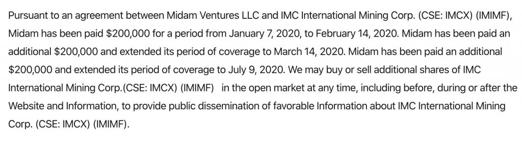 penny stocks IMC International Mining (IMCX) (IMIMF) Disclaimer